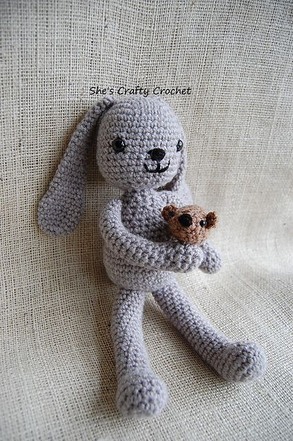 How cute is this?! FREE Little Bunny Foo Foo amigurumi pattern by She's Crafty Crochet (Ravelry link leads to Facebook)
