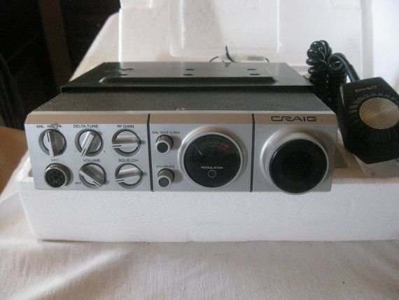 Craig Model 4103 Citizens Band Radio Transceiver - In Box - 1970s Vintage CB