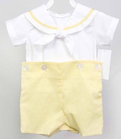 Baby nautical baby clothes are button-on romper set that ...