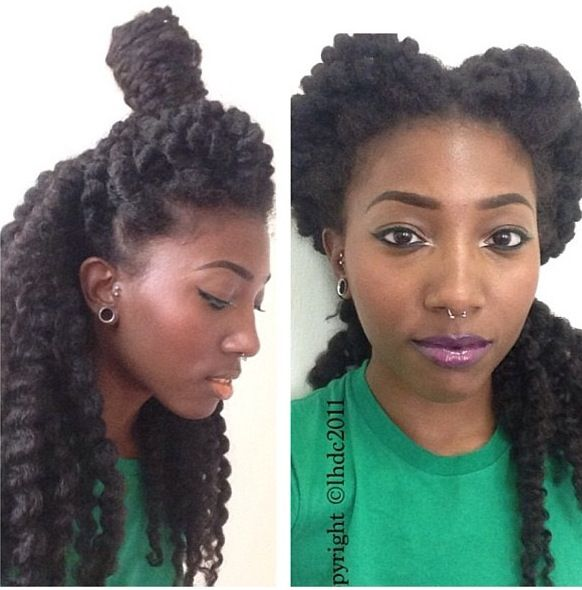 Unicorn and Split Top Havana Twist Hairstyles