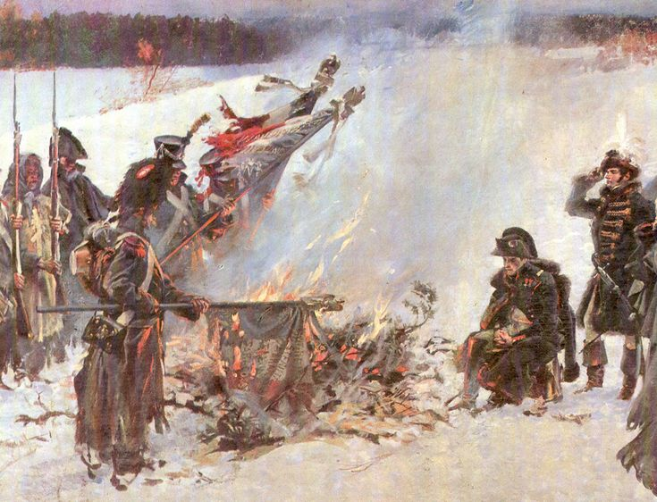 The Burning of Banners, detail from the panorama (1896-1908), National Museum, Cracow.