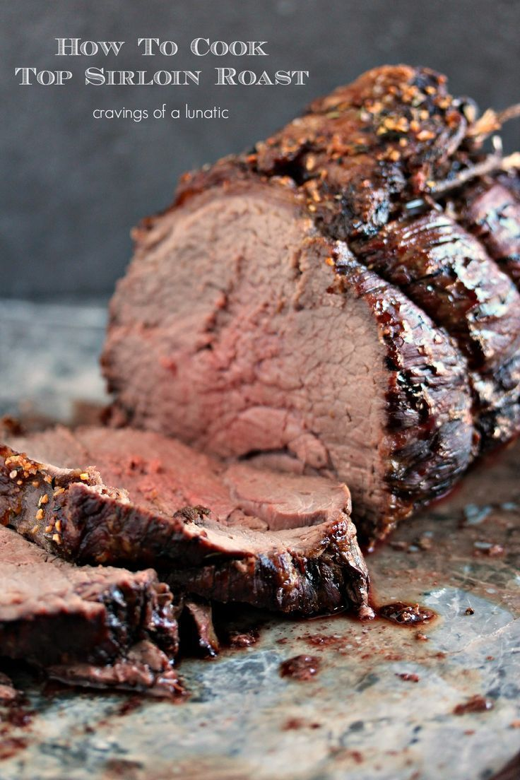 Top Sirloin Beef Roast- Easy to make yet impressive to serve for dinner. This beef roast recipe is easily adaptable to cook to your own taste. Enjoy! Get the recipe at http://cravingsofalunatic.com