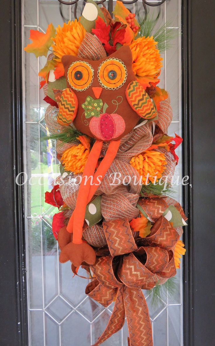 Fall Door Swag, Fall Wreath, Autumn Wreath, Front door wreath, Burlap wreath, Wreath for door, Door Swag by OccasionsBoutique on Etsy