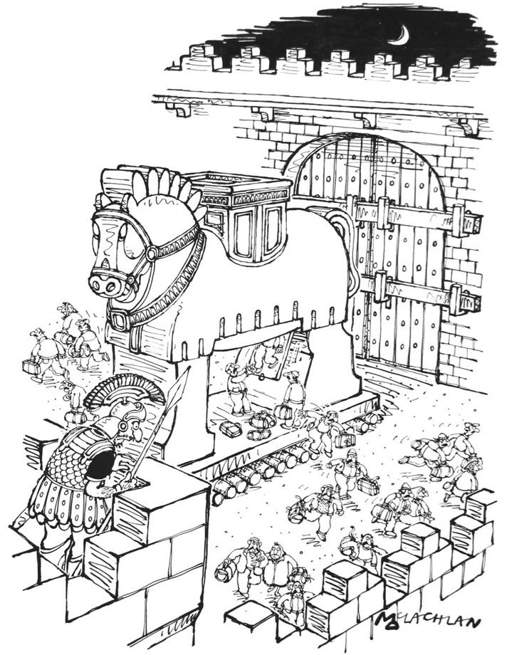 free trojan horse coloring pages - photo#24
