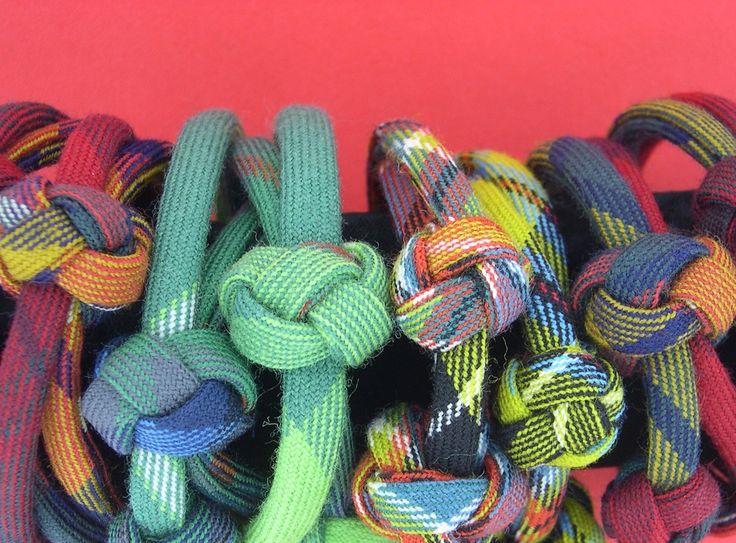 Tartan bobble bracelets