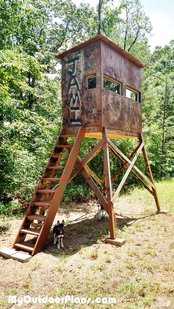 Diy deer shooting blind deer blind plans pinterest for Deer ground blind plans