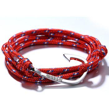 Бесплатная доставка 2014 любителей браслет Miansai крюк якорь браслеты для женщин мужчин