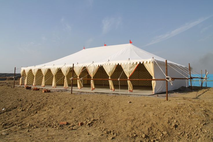 Army Tent pitched in the desert