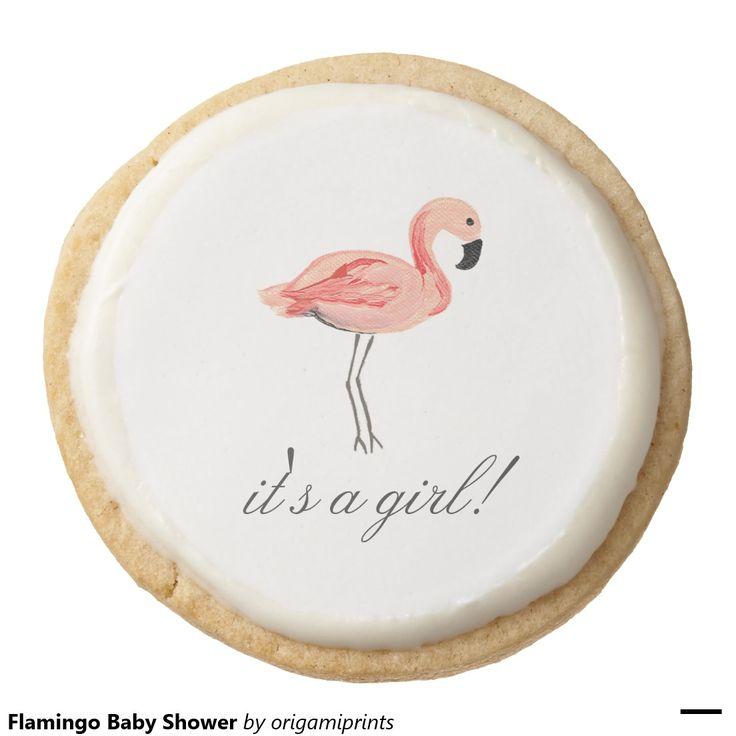 flamingo baby shower round shortbread cookie flamingo party flamingo