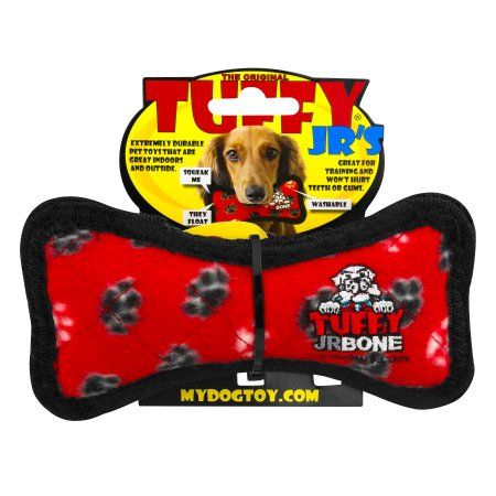 Vip Products Tuffy Jr Bone Dog Toy Red Dog Toys Dogs Pet Toys