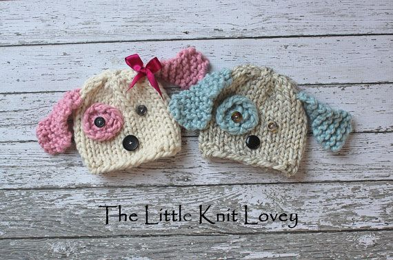Hey, I found this really awesome Etsy listing at http://www.etsy.com/listing/103334641/twin-set-of-little-knit-puppy-dog-hats