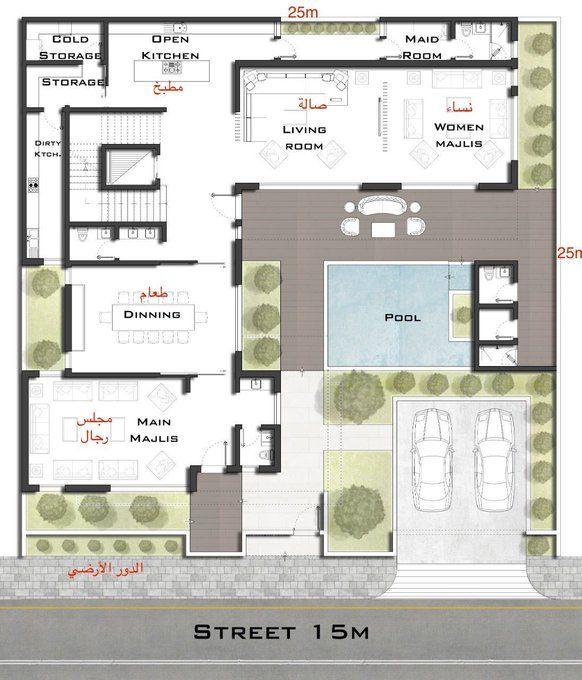 مخططات فلل On Twitter In 2021 My House Plans House Construction Plan Building Plans House