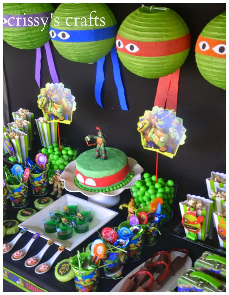 Crissy's Crafts: Ninja Turtle Party