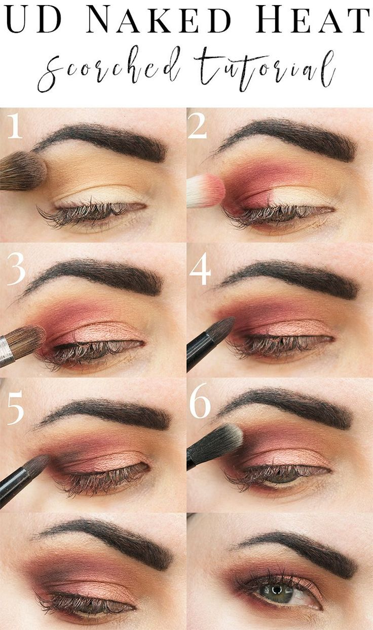 Urban Decay Naked Heat Scorched Tutorial with Red Eyeshadow. See how to use a true red with this new naked peach terra-cotta palette!