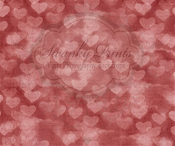 Red Love Notes Bokeh - Oz Backdrops and Props