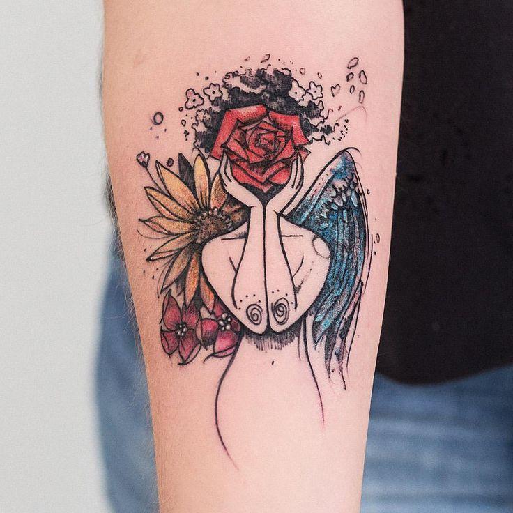 """6,346 Likes, 140 Comments - Robson Carvalho  (@robcarvalhoart) on Instagram: """"A Juliana me procurou para tatuarmos um desenho inspirado em uma obra dela, e esse é o resultado da…"""""""