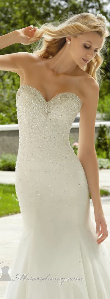 Love the top of this dress! Crystal Beading on Soft Net by Voyage by Mori Lee