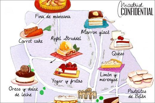 """""""Español en acción"""". Actividad de transición 2. Quedar en Madrid. Las mejores tartas de Madrid. Madrid Confidencial."""