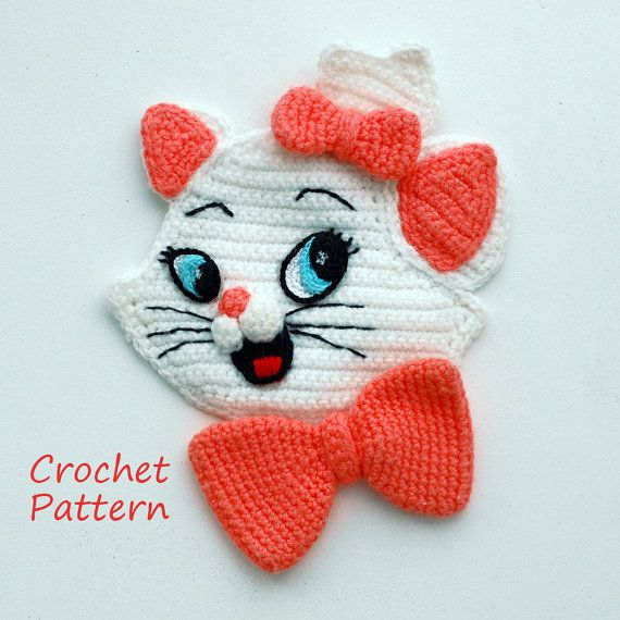 Crochet Pattern. Applique. Marie AristoCats by InspiredCrochetToys