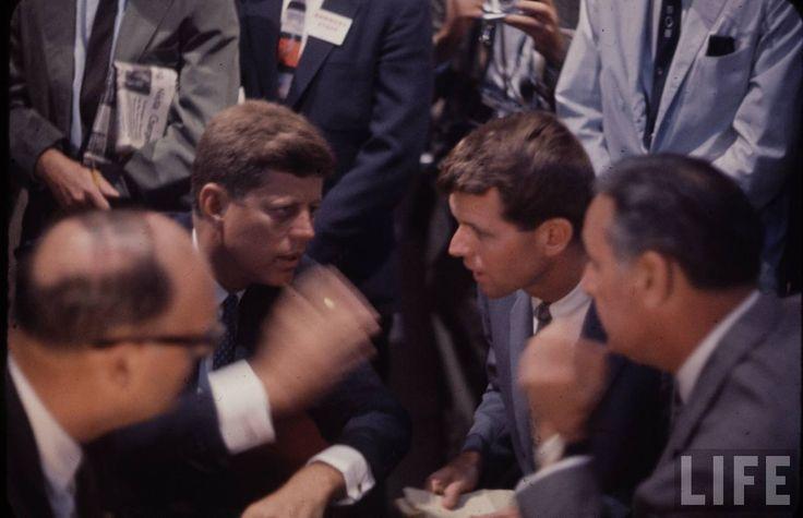 John and Robert Kennedy, Democratic Convention, LA, 1960
