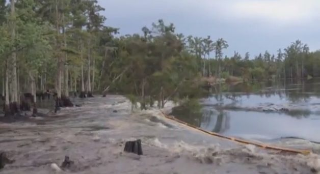 Texas Brine Salt Caverns Leave Sinkhole that Swallows Trees in Bayou Corne and Grand Bayou of Assumption Parish, Louisiana http://www.resourcesforlife.com/docs/item7949