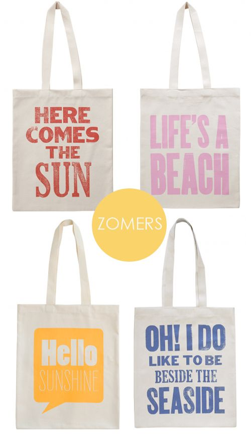 Sunny tote bags