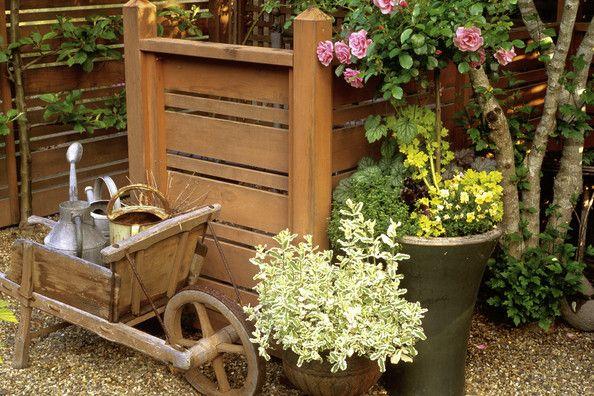 Garden Country Photo--love the wheelbarrow http://www.lonny.com/photos/Garden/Country
