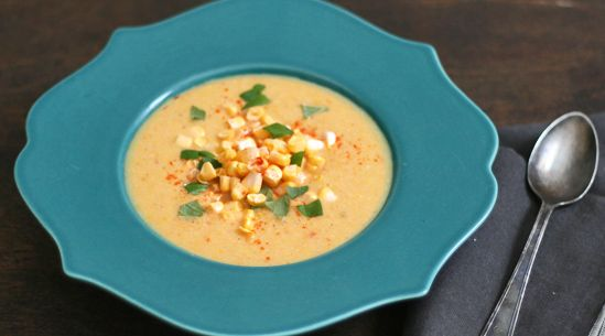 Ear and Now :-)  I don't eat a lot of corn, but this soup looks really good. Corn and a touch of cayenne is an amazing combination...