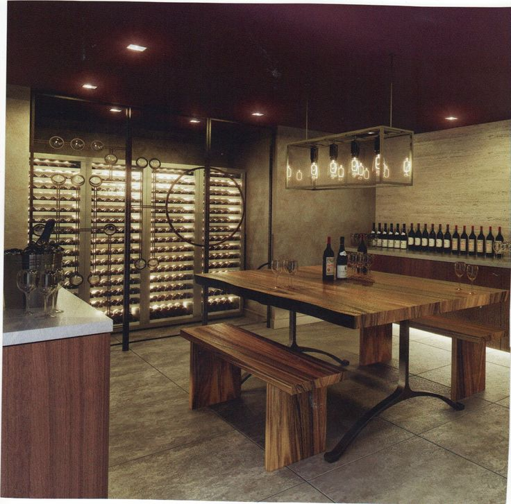 Wine cellar idea office space wine room hdk for Wine cellar pinterest