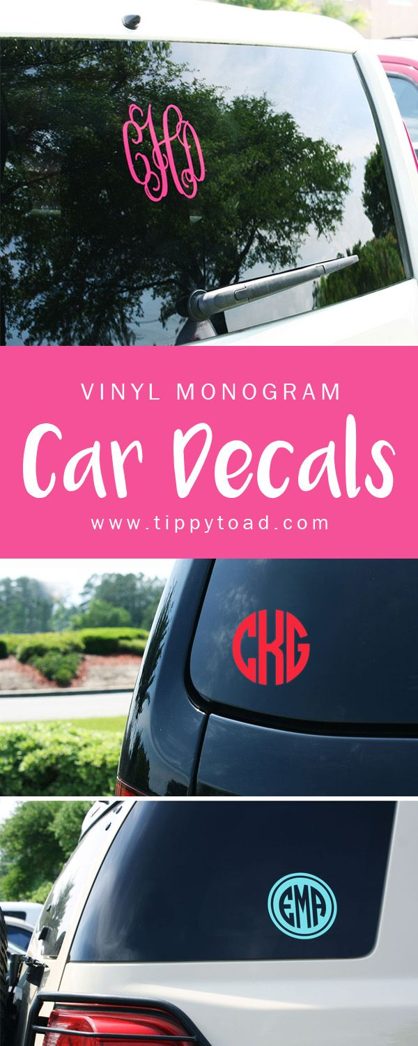 Unique Monogram Stickers Ideas On Pinterest Bakers Twine - College custom vinyl decals for car windowsbest back window decals ideas on pinterest window art