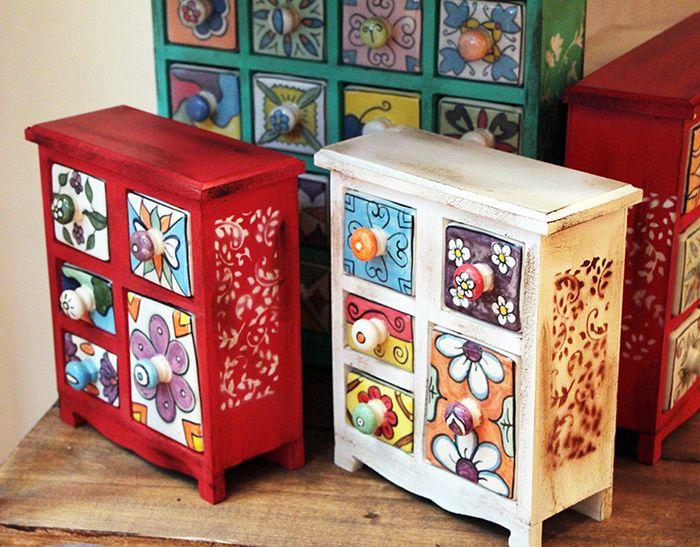 Cacharros pintados buscar con google rangement for Muebles pintados de colores