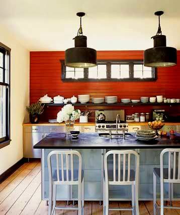 So What If We Painted A Red Accent Wall In The Kitchen Interesting Interiors Colorful Decor Colors
