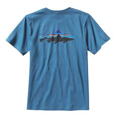 PATAGONIA - POLERA TROUT FITZ ROY HOMBRE GLASS BLUE