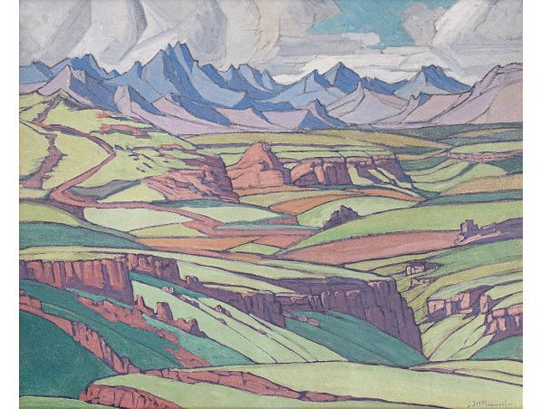 The Maluti Mountains by Jacob Hendrik Pierneef, South African painter, 1929