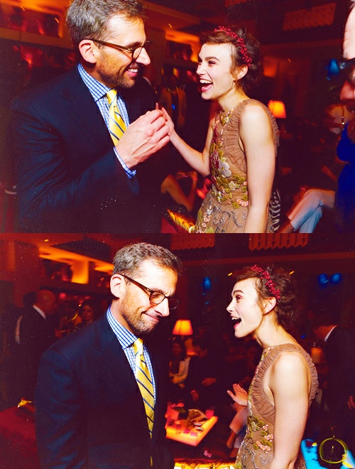 Steve Carell and Keira Knightley at Seeking a Friend for the End of the World premiere.