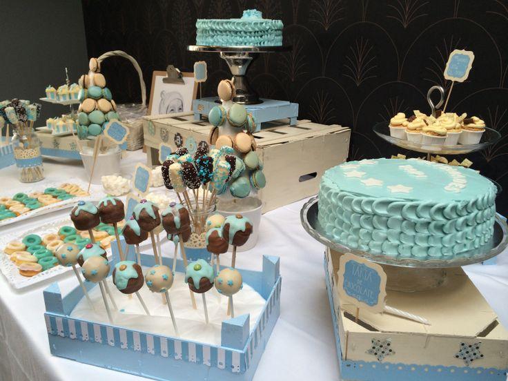 Sweet dreams mesa de postres para el bautizo de pablo - Postres para mesa de dulces ...