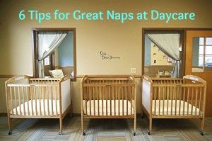 Tired of bringing home a cranky and overtired baby from daycare?  6 Tips to Improve Naps at Daycare  Photo Credit: www.annasbananas.com