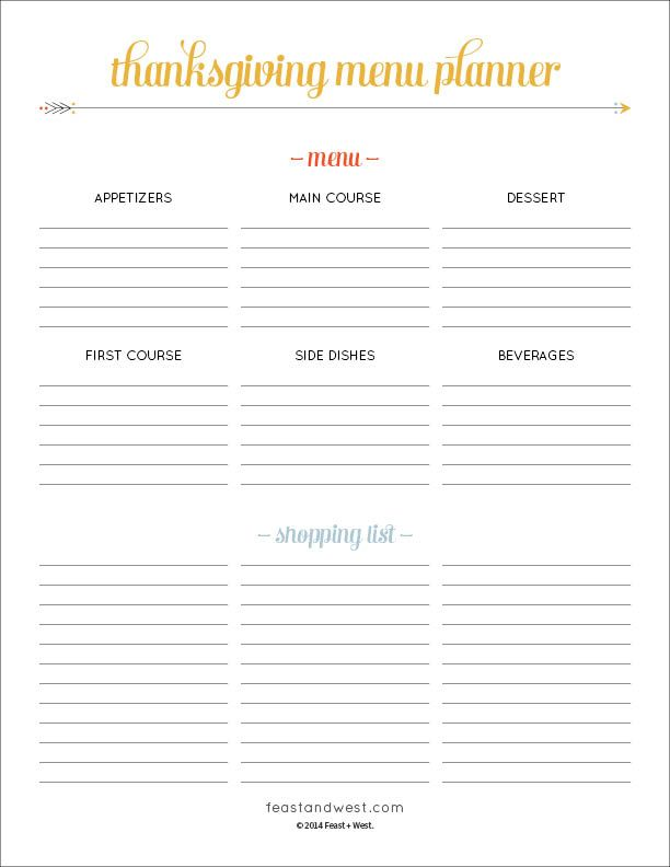 It can be daunting to be in charge of Thanksgiving, so download this free Thanksgiving Menu Planner to help you plan out your holiday meal.