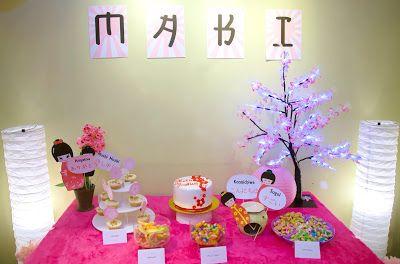 Japanese Themed Party for Makis Baptism Celebration