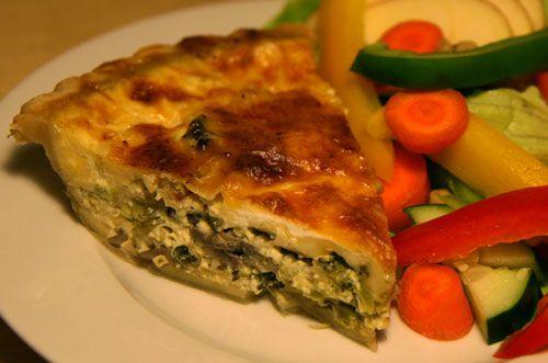 Lowfat Broccoli Mushroom Leek Quiche | Recipe