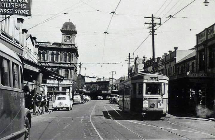 Newtown,inner west suburb of Sydney of yesteryears.Photo from Sydney Tram Museum.A♥W