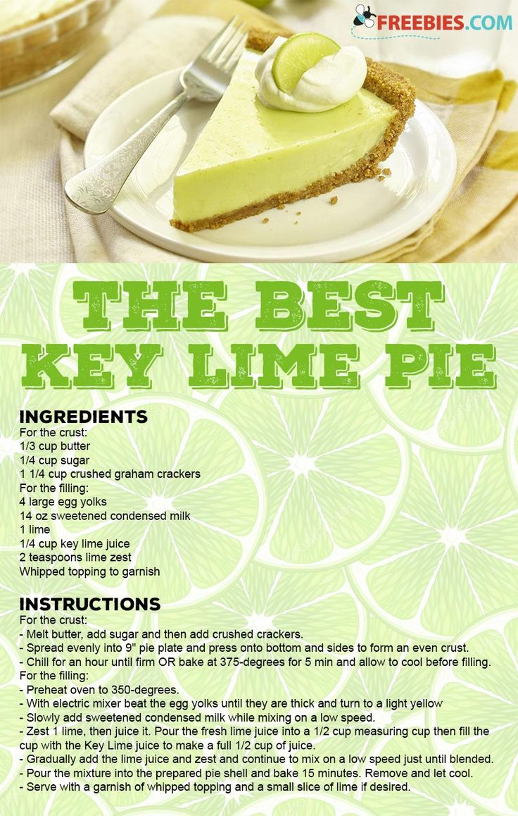 This fresh dessert is the best key lime pie I've ever tasted!