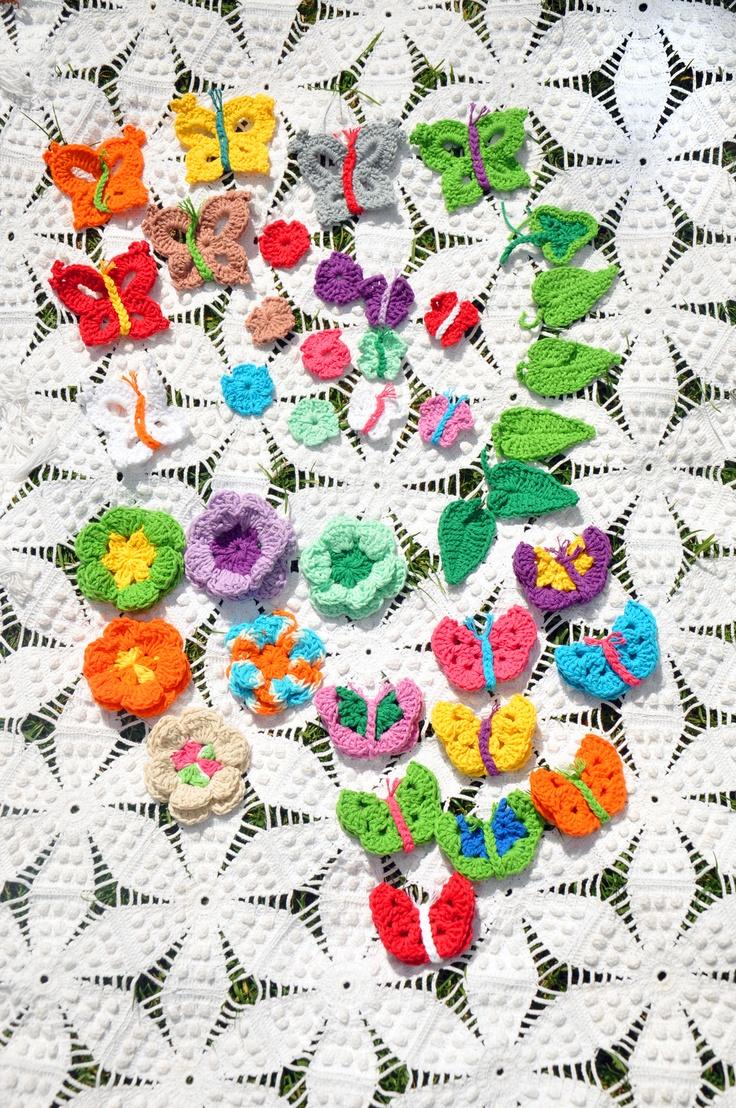 Aplicações em crochet
