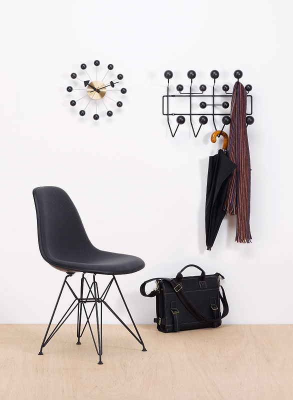Via Vitra | Black Eames Hang-it all | Eames DSR | George Nelson Clock