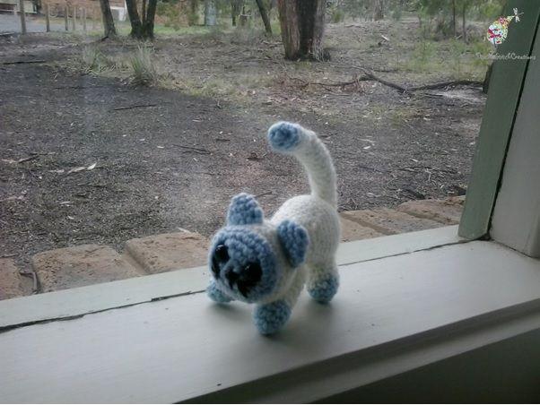 Crochet Kitten - Handmade to order  #crochet #amigurumi #kitten
