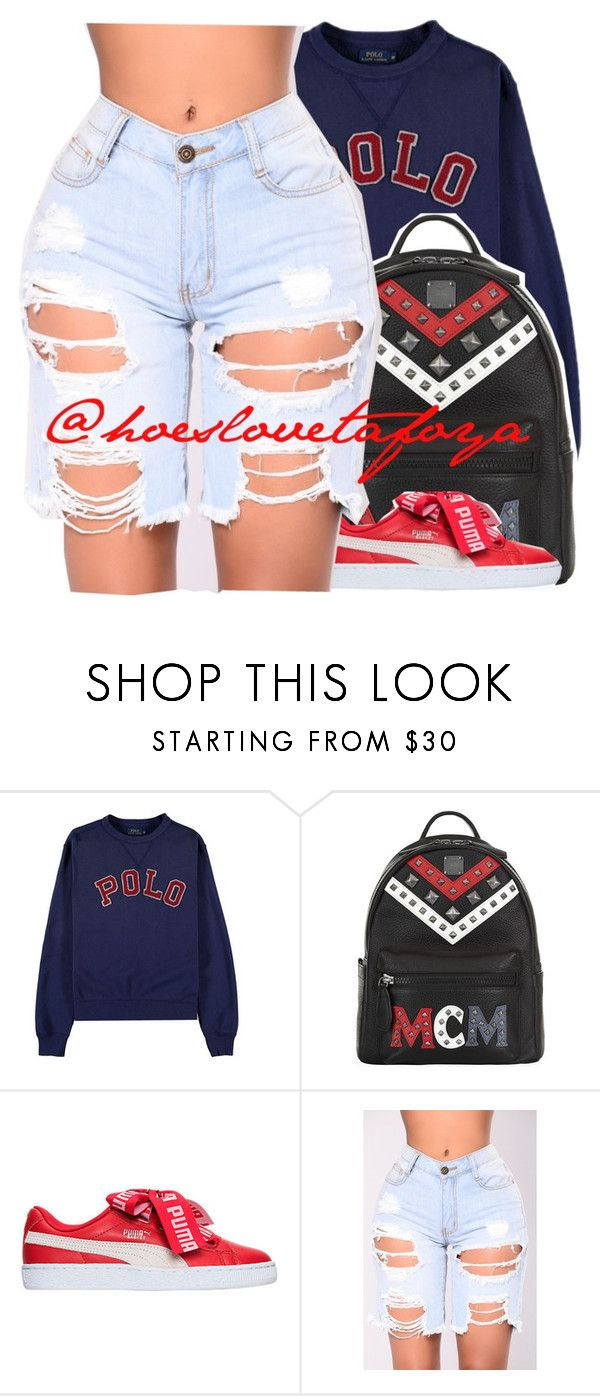 """""""Polo x Puma"""" by hoeslovetafoya ❤ liked on Polyvore featuring Polo Ralph Lauren and MCM"""