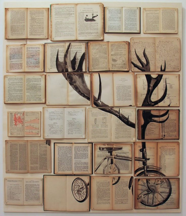 Sir John Lawes Art Faculty: Apart and or Together Edexcel GCSE 2015 Collage working over old books -Russian born artist Ekaterina Panikanova uses old books as a surface to draw and paint on