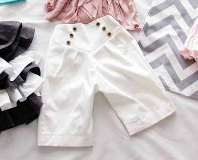 Very cute little girl pants, from Mama Says Sew.