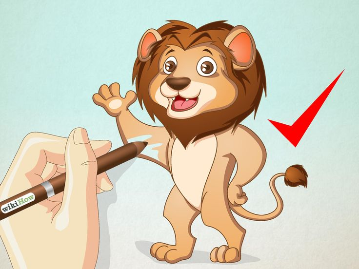 how to draw a cartoon lion step by step easy
