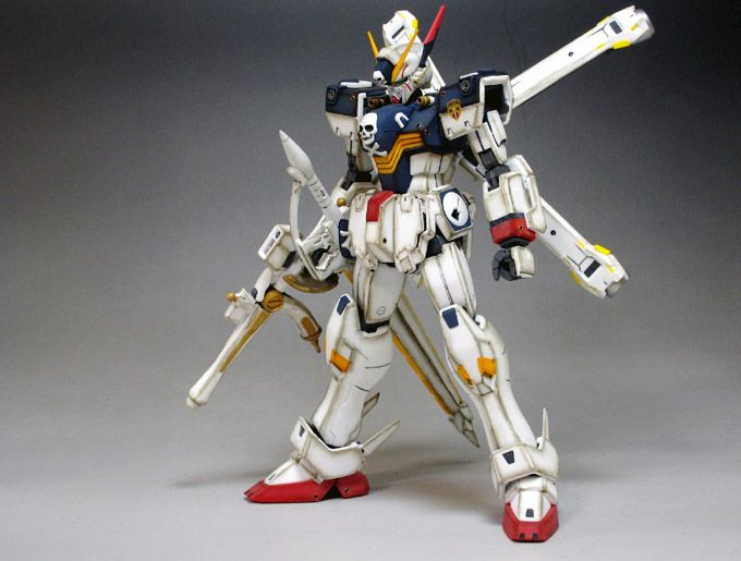 MG 1/100 Crossbone Gundam X-1 FullCloth: Painted Build (Weathered). Photoreview No.10 Large Images. Modeled by Paul